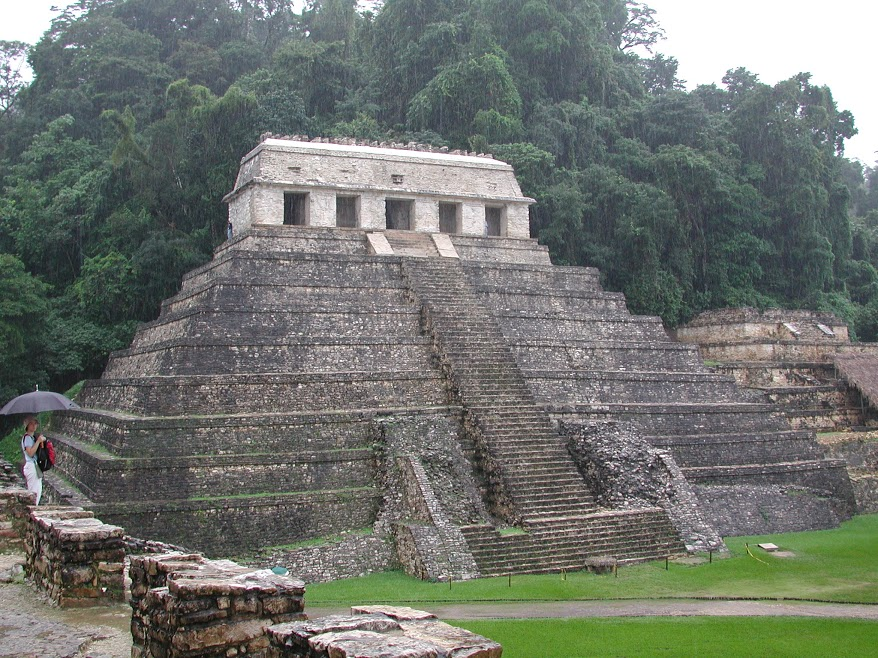 Mayan ruins of the Temple of the Inscriptions at Palenque